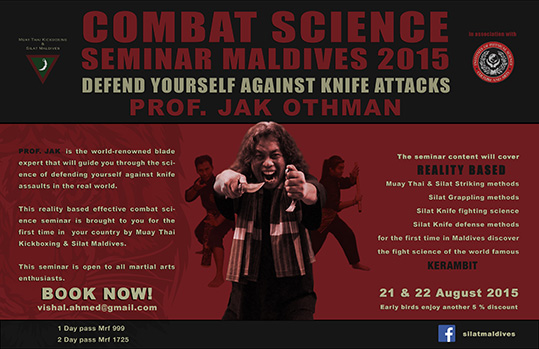 Combat Science Seminar with Guru Jak Othman in Maldives 2015